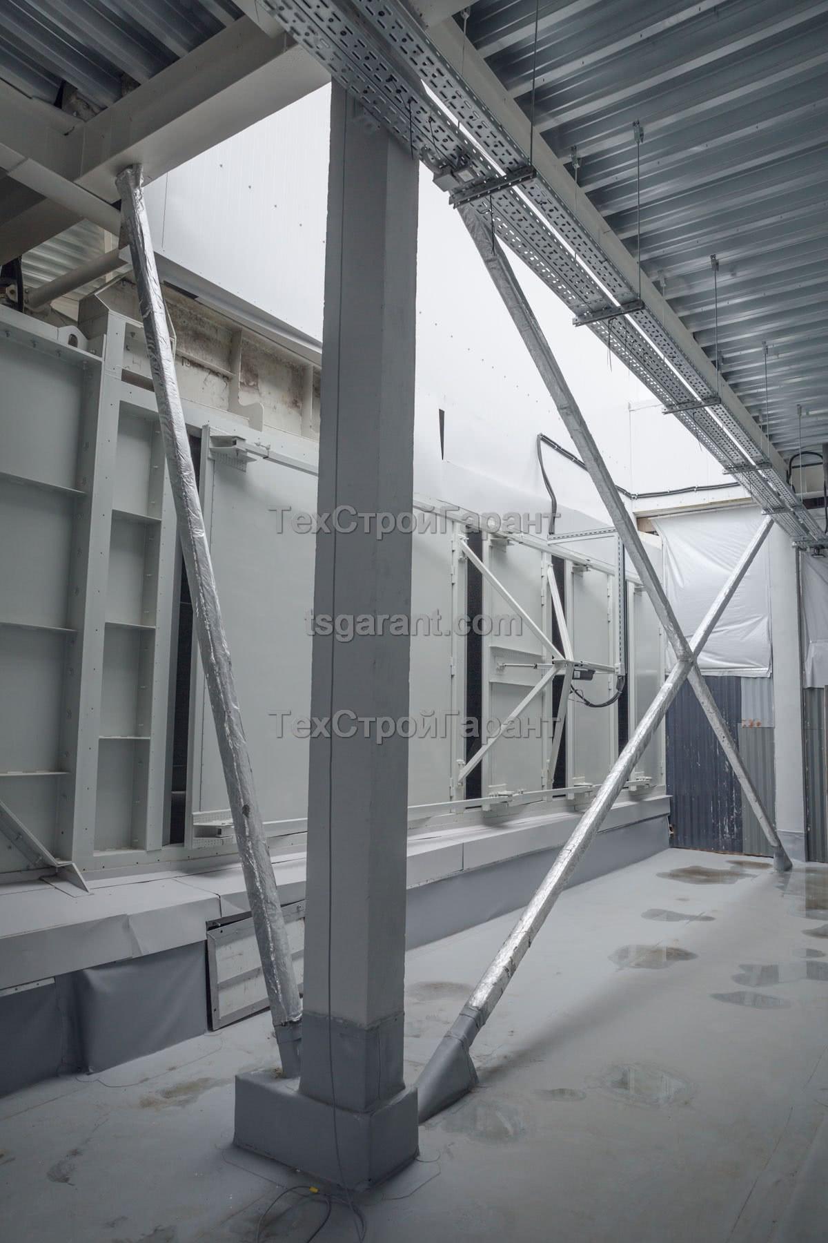 оклеечная огнезащита металлоконструкций